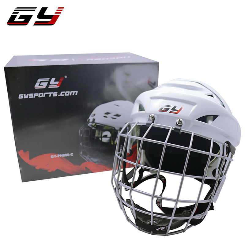 GY SPORTS Safety Top Equipment PP Shell Ice Hockey Helmet Full Face Hockey Helmet Hockey Helmet