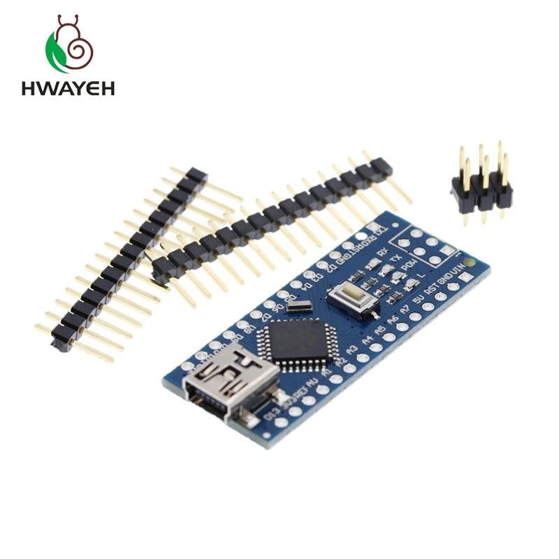 20PCS MINI USB Nano V3 0 ATmega328P CH340G 5V 16M Micro controller board for arduino NANO