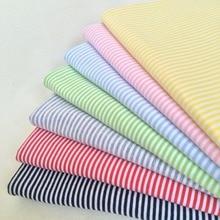 3pcs Diy Handmade Doll clothes material 2mm stripe cotton Lycra Stretch knit fabric for Blyth clothes Doll T-shirt socks 50*40cm