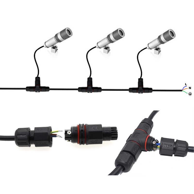 CLAITE 2Pin 3 Pins Kabel T Gerade Form Wasserdichte Draht Anschluss Elektrische Stecker für Outdoor LED Beleuchtung Produkt