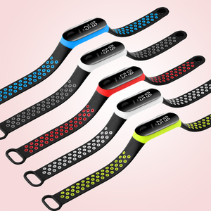 Image 5 - BOORUI mi band 3 strap Double Color Breathable Silicone miband 3 strap Sport pulsera replacement for xiaomi miband 3 strap