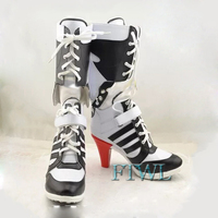 Hot Harley Quinn Cosplay Shoes Batman Suicide Squad Cosplay Boot Custom Made