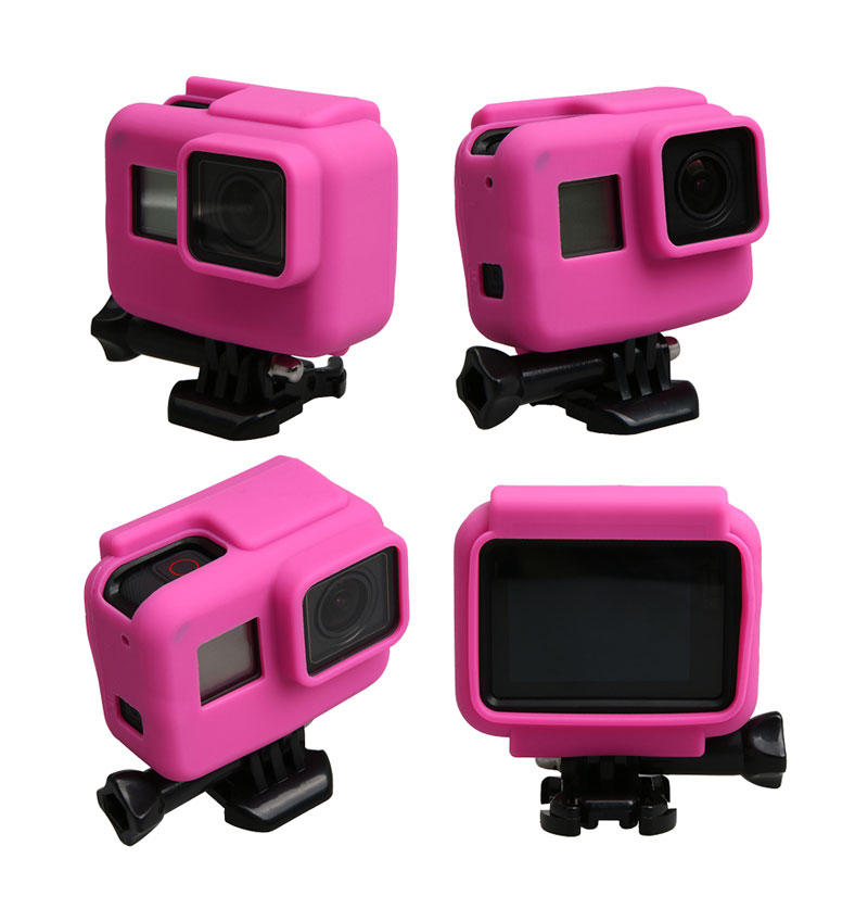 Colorful Soft Silicone Rubber Frame Protective Case for GoPro Hero 5 Black Protective Cover for Go Pro 5 Camera Accessories (3)