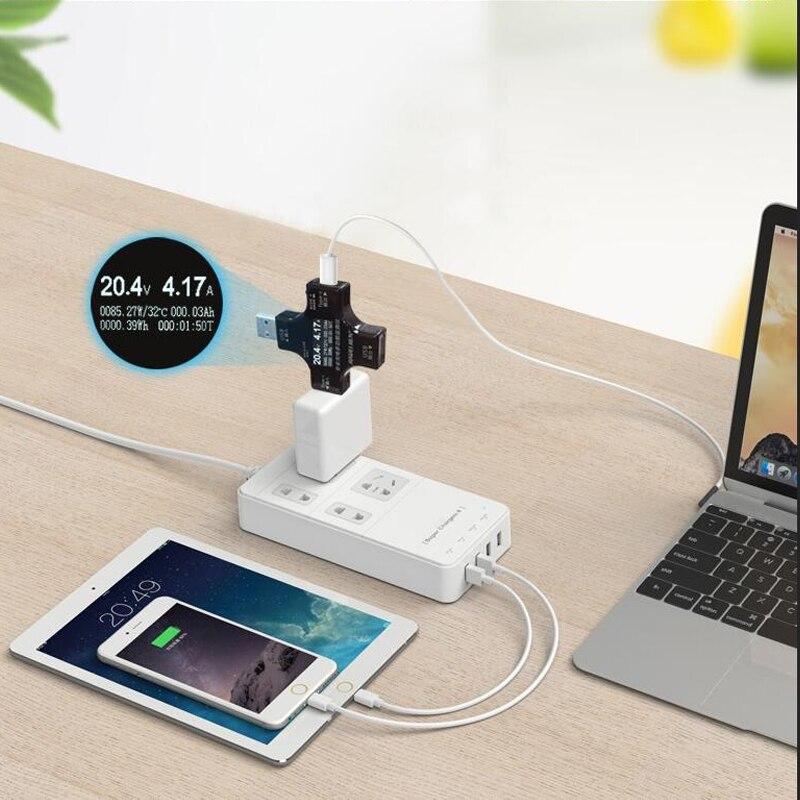 12 in 1 Tipo-C PD tester USB DC voltmetro Digitale corrente tensione metro amp volt amperometro rilevatore di banca di potere del caricatore indicatore