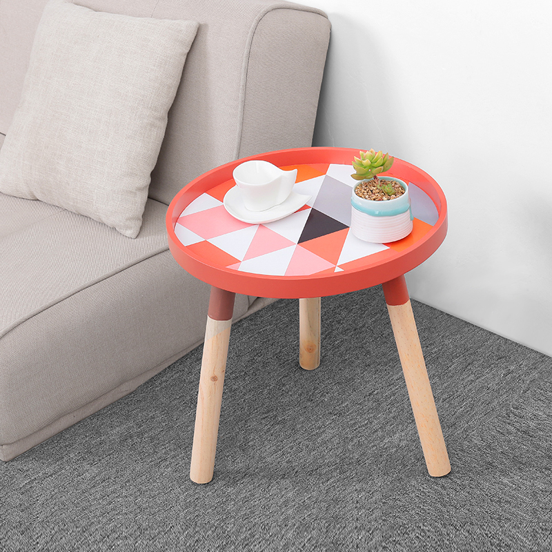 Nordic coffee table creative wooden small coffee tables bedside living room sofa small round table home decor mx6011406