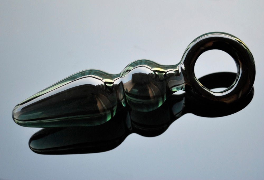 Ikoky Pyrex Glass Dildo Artificial Penis Crystal Anal Bead Butt Plug Prostate Massage Masturbate Sex Toy For Adult