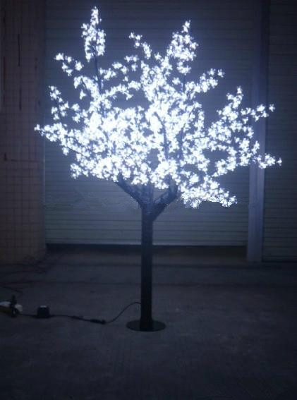 Free ship Indoor /Outdoor LED Christmas Holiday party wedding Light Cherry Blossom Tree Holiday Decor 864 LEDs 6ft White