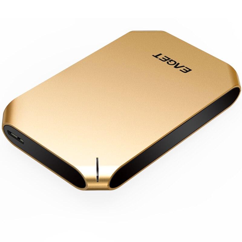 Eaget g60 1 ТБ 500 ГБ USB 3.0 High Скорость Внешние жёсткие диски Портативный настольных и портативных мобильных жесткий диск из натуральной кожи