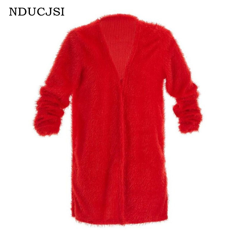 NDUCJSI Autumn Winter   Jackets     Basic     Jackets   Female Women Winter Spring Clothes Long Sleeve Loose Outwear Coat Plus Velvet Coats