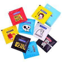 5 шт портативный мультфильм презерватив форма влажные салфетки ткани индивидуально обернутый алоэ эссенция случайный цвет