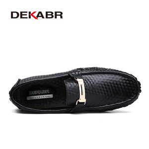 Image 2 - DEKABR Brand New Slip On Casual Shoes Men 2021 Top Fashion Loafers Mens Moccasins Shoes Handmade Driving Flats Shoes For Men