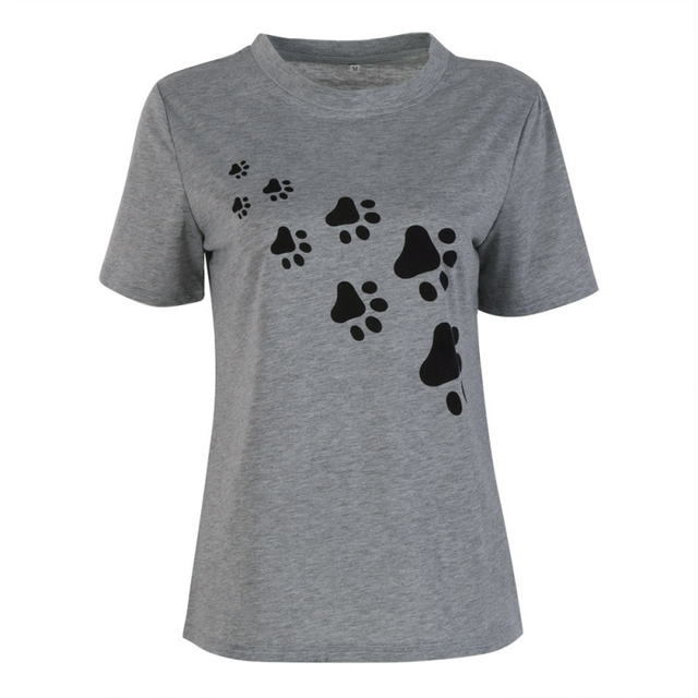 e73842dff Cat Paws Print Women T-Shirt Cotton Casual Funny T-Shirts For Lady Top Tee  Hipster Black White Paws