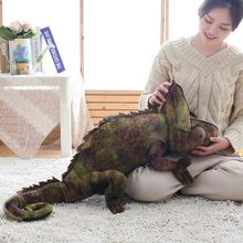Simulation reptilien Eidechse chameleon Plüsch Spielzeug Hohe Qualität Persönlichkeit tier puppe Kissen für kinder Geburtstag Weihnachten Geschenke