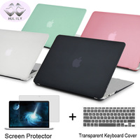 Crystal Matte Black Case For 2016 New Macbook Pro 13 15 Case Fit A1706 A1707 Touch