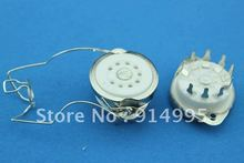 Free Shipping 10PCS GZC9-F-14  B9A  new 9-pin  tube sockets ceramic base suitable for  12ax7 12au7/12AT7