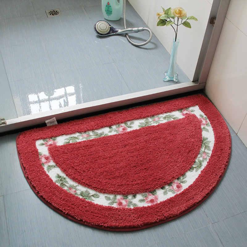Домашний декор полукруглый коврик для ванной комнаты коврик для пола Противоскользящий водопоглощающий кухонный дверной коврик для туалета для крыльца