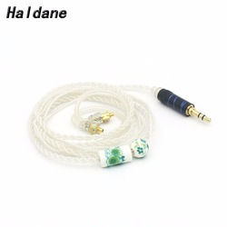 Free Shipping Haldane Hand-Made 3.5mm Silver Plated Earphone Wire MMCX For SE846 SE535 SE315 SE215 UE900