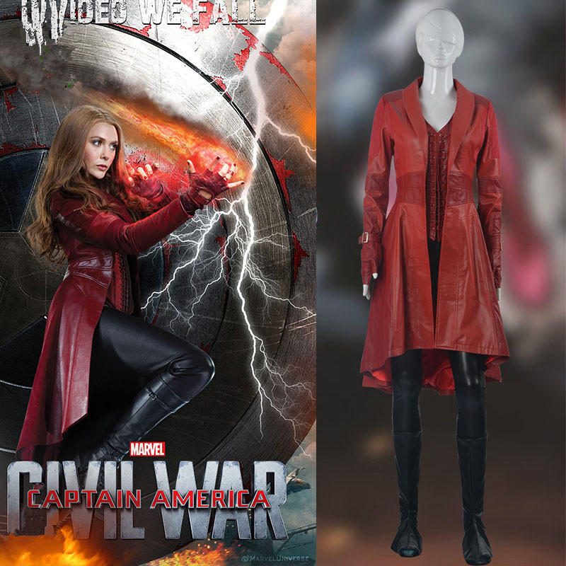 Captain America 3 Scarlet Witch cosplay halloween costumes