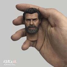 Custom 1/6 Wolverine Logan Head Sculpt For Hugh Jackman X-Men HotToys Phicen