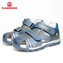 FLAMINGO Summer Hook&Loop Mixed Color Casual Kids shoe Littl