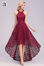 Sexy Elegant Burgundy Lace Evening Dresses Long 2019 Plus Size Sleeveless Party Dress
