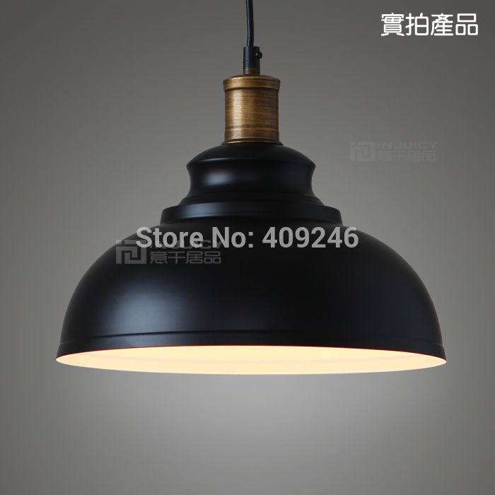 Edison Vintage Style Industrial Elegant Black /White Light Pendant Lamp For Cafe Bar Club Coffee Shop Hall Aisle