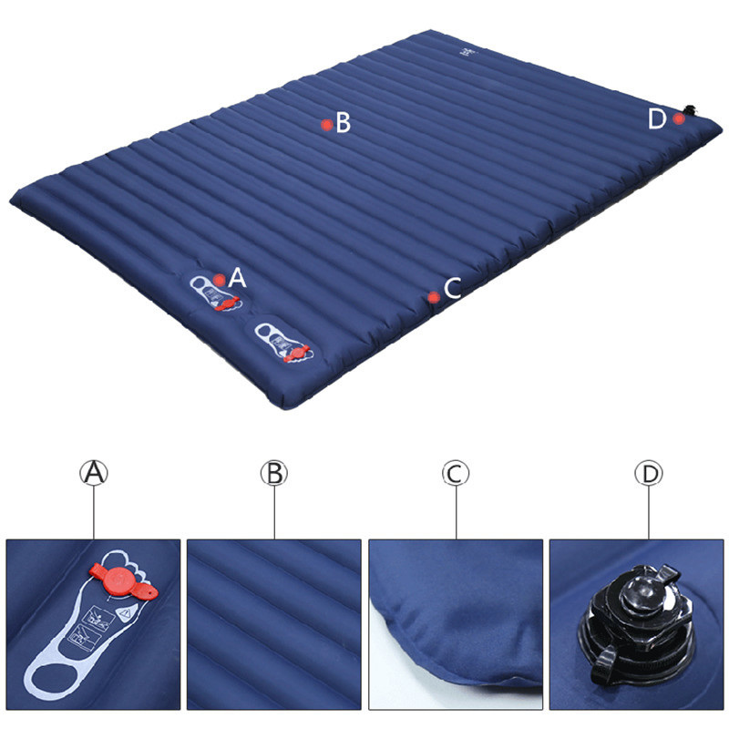 220*135CM SUV Inflatable Mattress Travel Camping Car Back Seat Sleeping Rest Mattress With Air Pump Car Accessories tpu material car travelling pads air inflatable suv car accessory beds square travel sleeping cushions