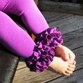 2017 nuevos llegan 6 colores baby girl 100% algodón solid ruffle encuadre de cuerpo entero pantalones niñas leggings Niño Leggings clásicos