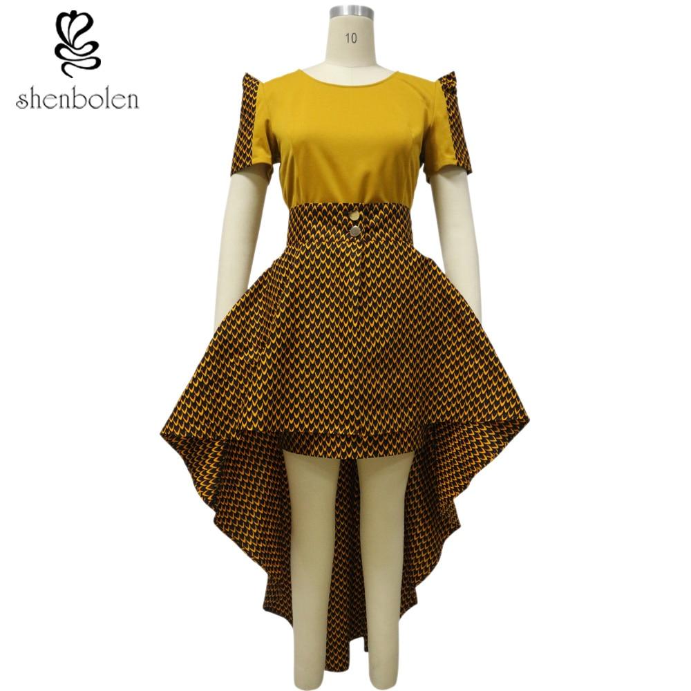 New Design Women Africa Printed Batik Cotton Party Dresses