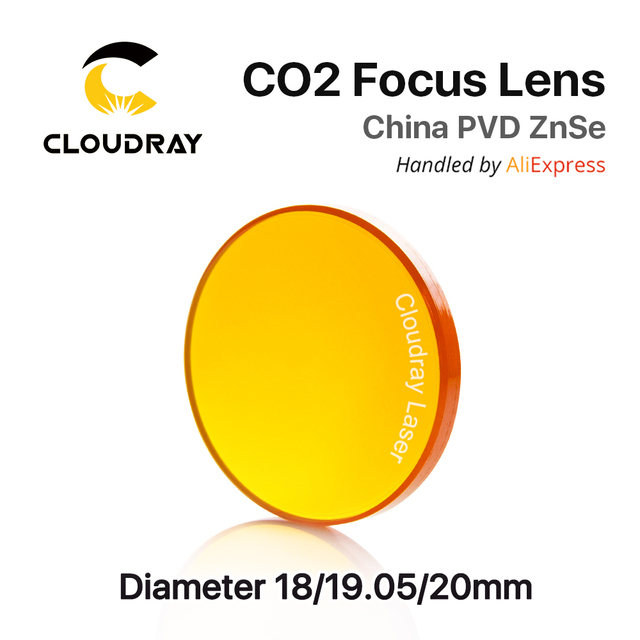 """China ZnSe CO2 Focus Lens Dia. 18 - 20mm FL 50.8 63.5 101.6mm 1.5 - 4"""" CVD for Laser Engraving Cutting Machine Free Shipping"""