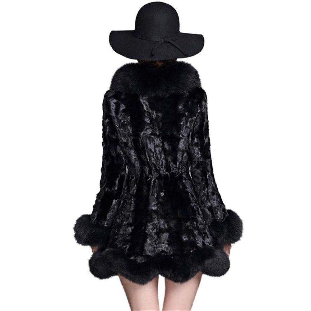 De Véritable Vison Hiver Collar Col Plus black Chaud Manteau 2019 Collar Manteaux Naturelle Réel Fox Nouveaux V839 Red Taille Femmes Collar Fourrure sivel 100 Femme 5xl xYOIxng