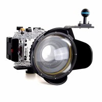40m/130f Waterproof Underwater Housing Case For Sony RX100 III + Red Filter + Fisheye dome port Lens+ Aluminium Diving handle