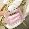 Summer Style Composite Bag 2017 Fashion Chains Jelly Bag Transparent Women PVC Messenger Bags  Women Beach Bags