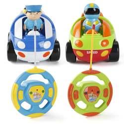 Новинка! Милый мультфильм RC гоночный автомобиль радио управление игрушечный автомобиль со звуком Музыка мигающий свет электрические