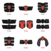 2pc Replacement Part Muscle Stimulator EMS Figure Slimming Machine Abdominal Muscle Tens Exercise Slim Belt Rechargeable Red