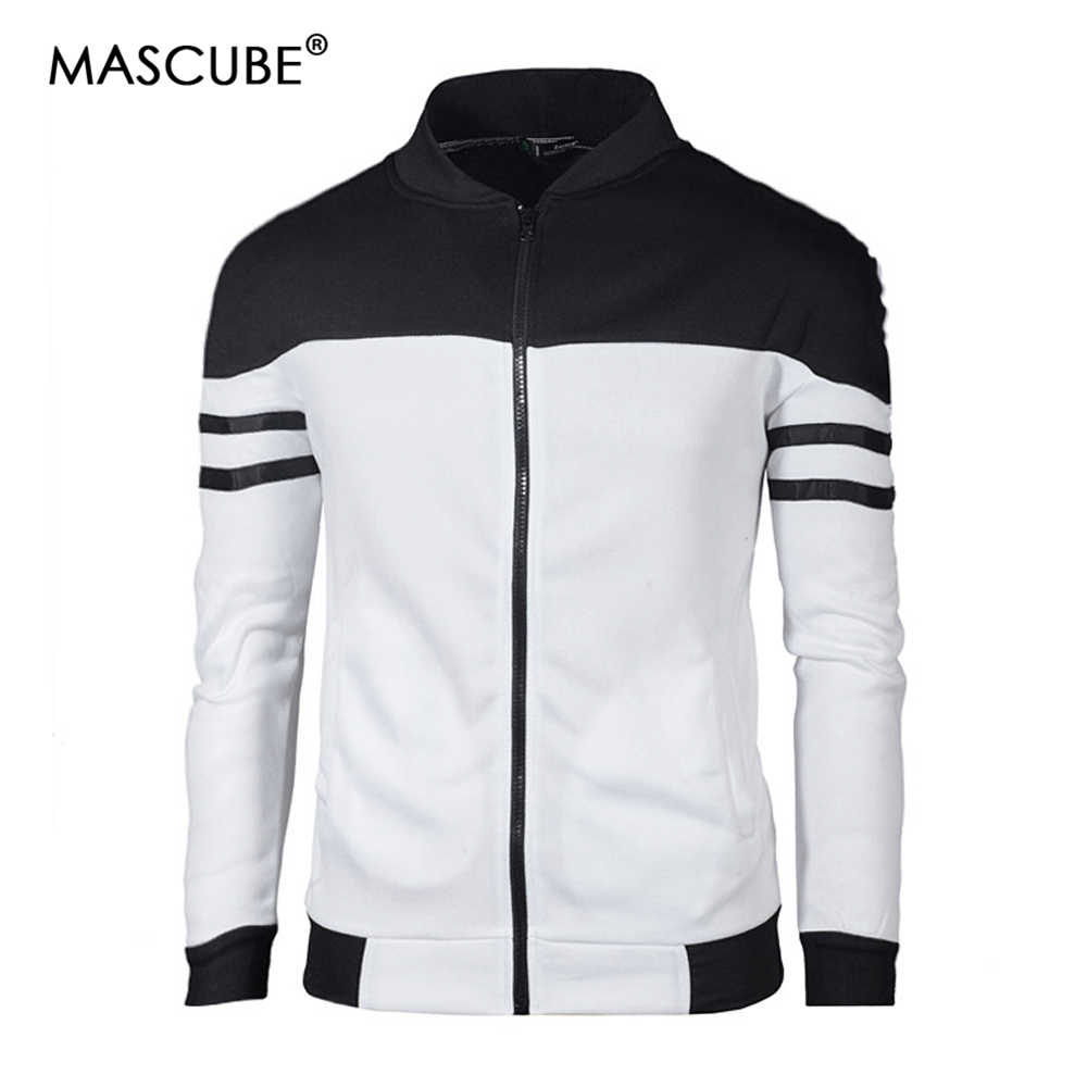 e75b26bf5ee57 Detail Feedback Questions about MASCUBE 2019 New Brand Slim Men Casual  Jacket Fashion Fashion Cashmere Sweatshirt Jackets Men Black White Plus  Size 4XL on ...
