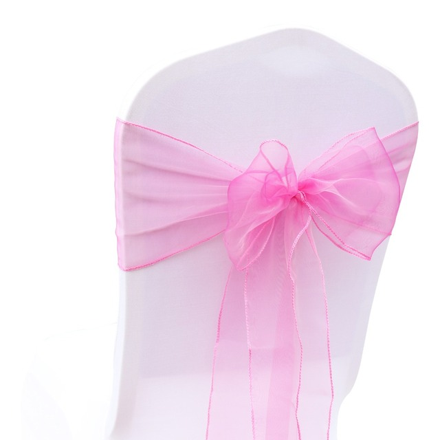 Organza Chair Sashes – Chairs Knot / Bow Decoration