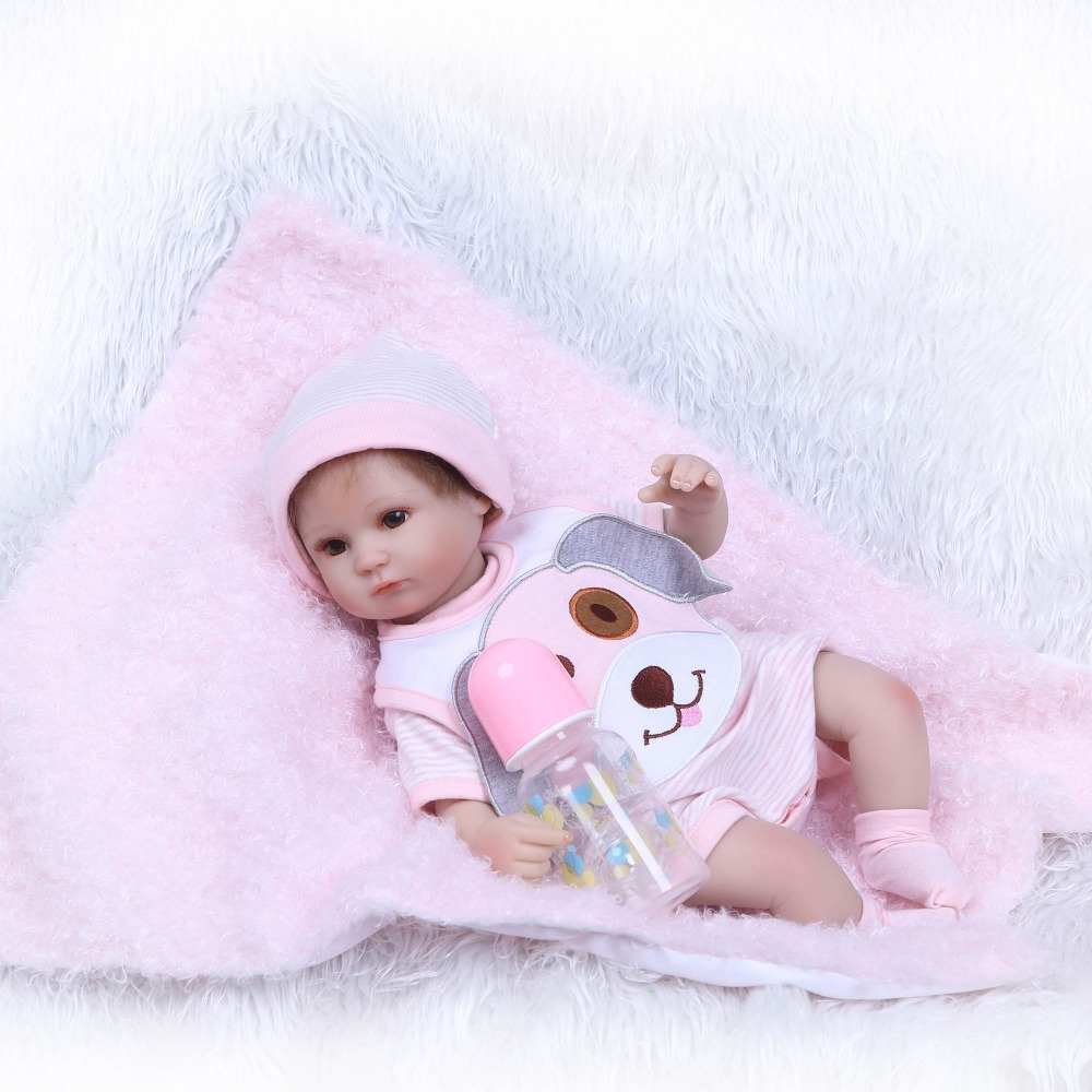 NPKCOLLECTION 40cm Silicone Reborn Baby Doll Toys Princess Dolls Soft Body Newborn baby Lovely Birthday Gift Girls Brinquedos