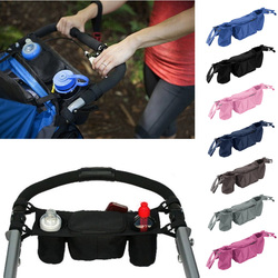 Baby Stroller Organizer Bag Baby Prams Carriage Bottle Cup Holder Bag for Pram Baby Stroller Accessories 9 Colors Wheelchair Bag