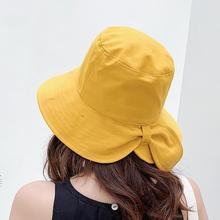 BINGYUANHAOXUAN Fashion Soft Bow Bucket Hats Black Yellow Bob Cap Hip Hop Gorros Women Panama Fishing fisherman Hat Wholesale