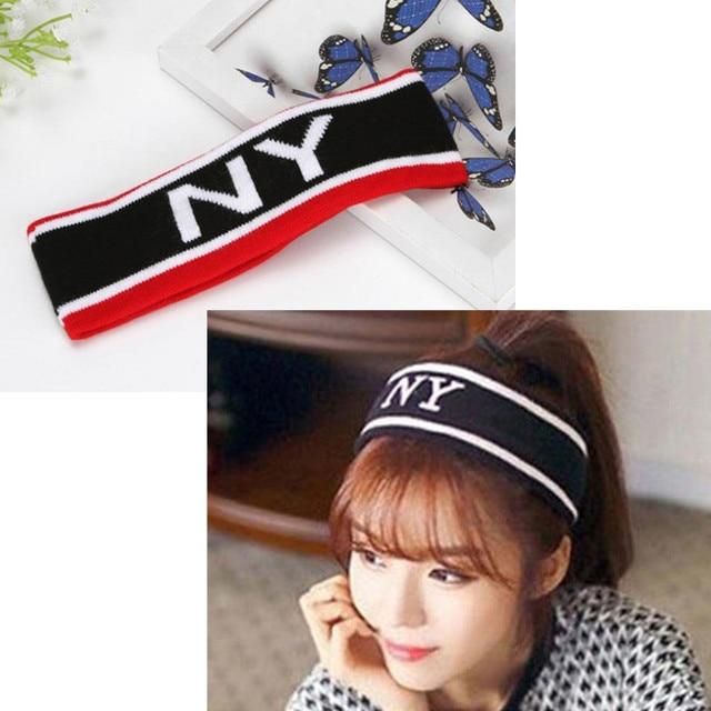Fashion Sports Headband Wide Elastic Letters Hairband Unisex Headband Yoga  Fitting Running Headwear Cotton Sweat Headband c54eb7af600