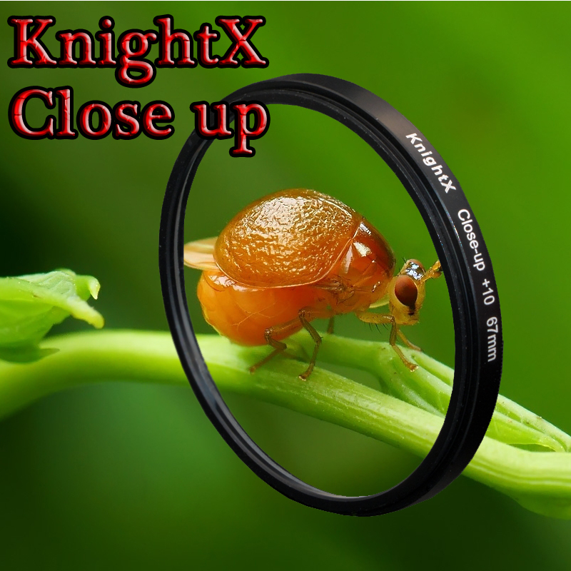 KnightX 52mm 58mm 67 Macro Close Up Filtre Lentille Kit + 10 pour Canon nikon d3200 700D 650D 600D 550D 500D 1200D 1100D 100D T5i lentille
