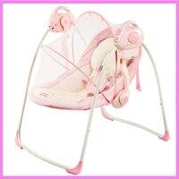 Портативный Электрический детское кресло качалка для малышей Колыбель рокер ребенка вышибала стул детские качели кресло