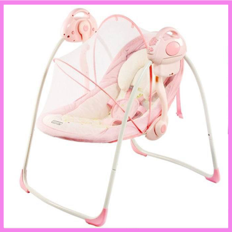 Portable Electric Baby Rocking Chair Infant Toddler Cradle Rocker Baby Bouncer Chair Baby Swing Chair Lounge Recliner baby rocker stroller newborn baby rocking hose swing chair cradle portable baby bouncer toddler sleeping lounge seat recliner