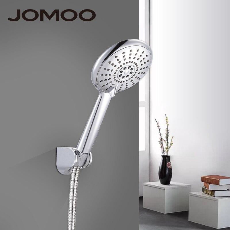 JOMOO Bathroom Shower Head Set ABS 5 inch 5 jet way Water Saving Handheld Bath Sprayer With 1.5m Stainless Steel Shower Hose