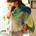 Fashion Sexy Womens Girls 210*60cm Artificial Wool Scarves Plaid Shawl Scraf Autumn Winter Outdoor Riding Wrap Hijabs 10 color