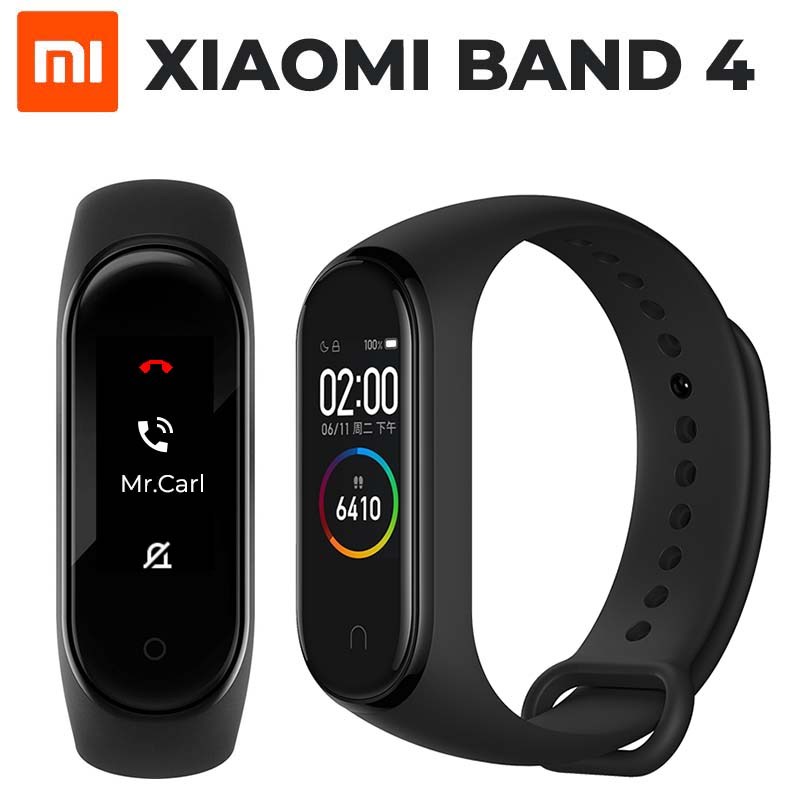 2019 Newest Xiaomi Mi Band 4 Smart Miband 4 Bracelet Heart Rate Fitness 135mAh Color Screen