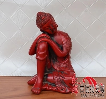 Antique Red Coral sitting Buddha Buddha
