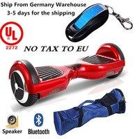 Bluetooth программно управляемый гироскутер балансировочный Скутер E скейтборд e скутер 6,5 дюймов с сумкой