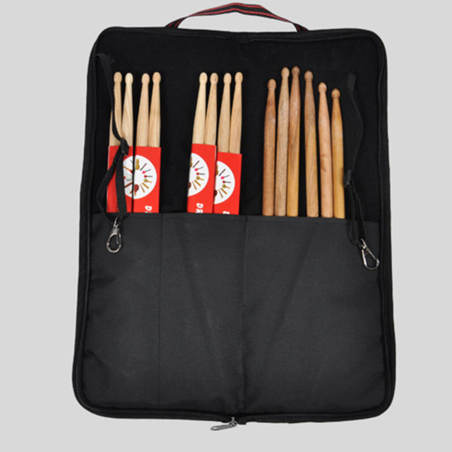 Top quality professional luxury portable durable thicker drum stick Bags drumstick carrying cases gig bags padded cover black